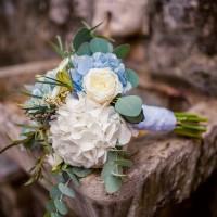 Букет свадебный с гортензией