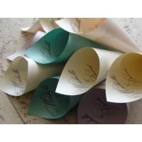 Персонализованные кулечки для лепестков роз (рис, конфети)